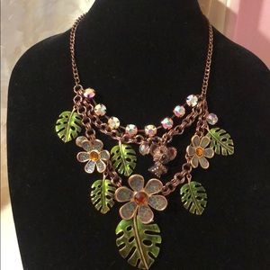 Betsy Johnson floral 🌿/koala 🐻 bear necklaceNWOT